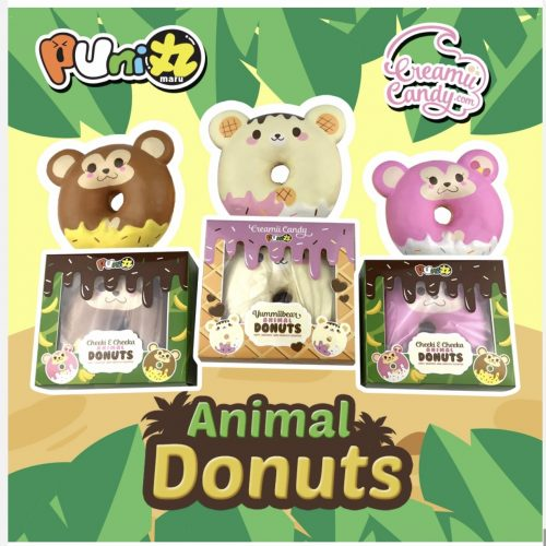creamiicandy jumbo animal bun, yummiibear cheeki and cheeka