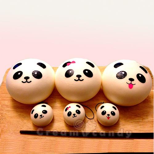 Jumbo Panda Bun Squishy + FREE mini panda bun (low in stock!)