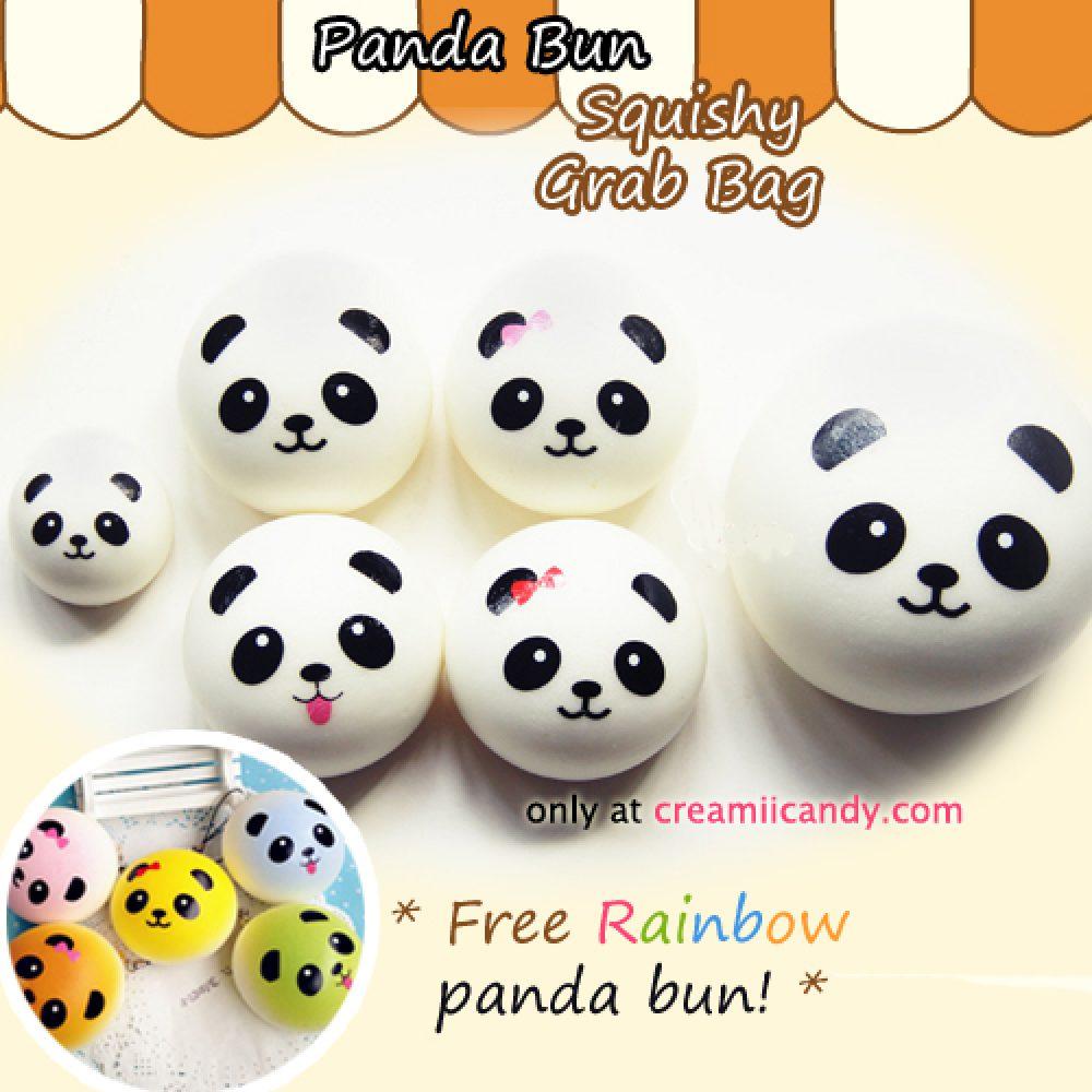 panda bun squishy set grab bag australia cute squishys