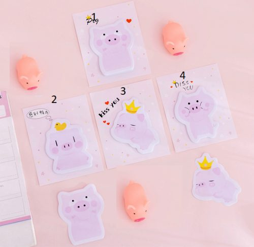 pig pink memo pad sticky notes styles