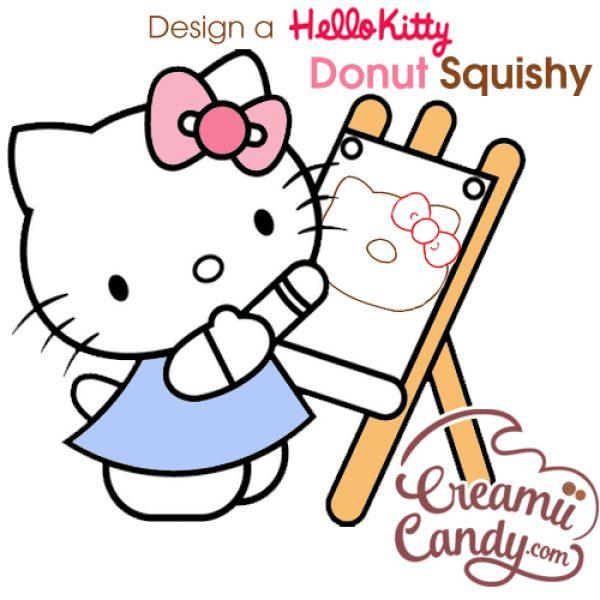 design rare hello kitty donut squishy jumbo donut buy online
