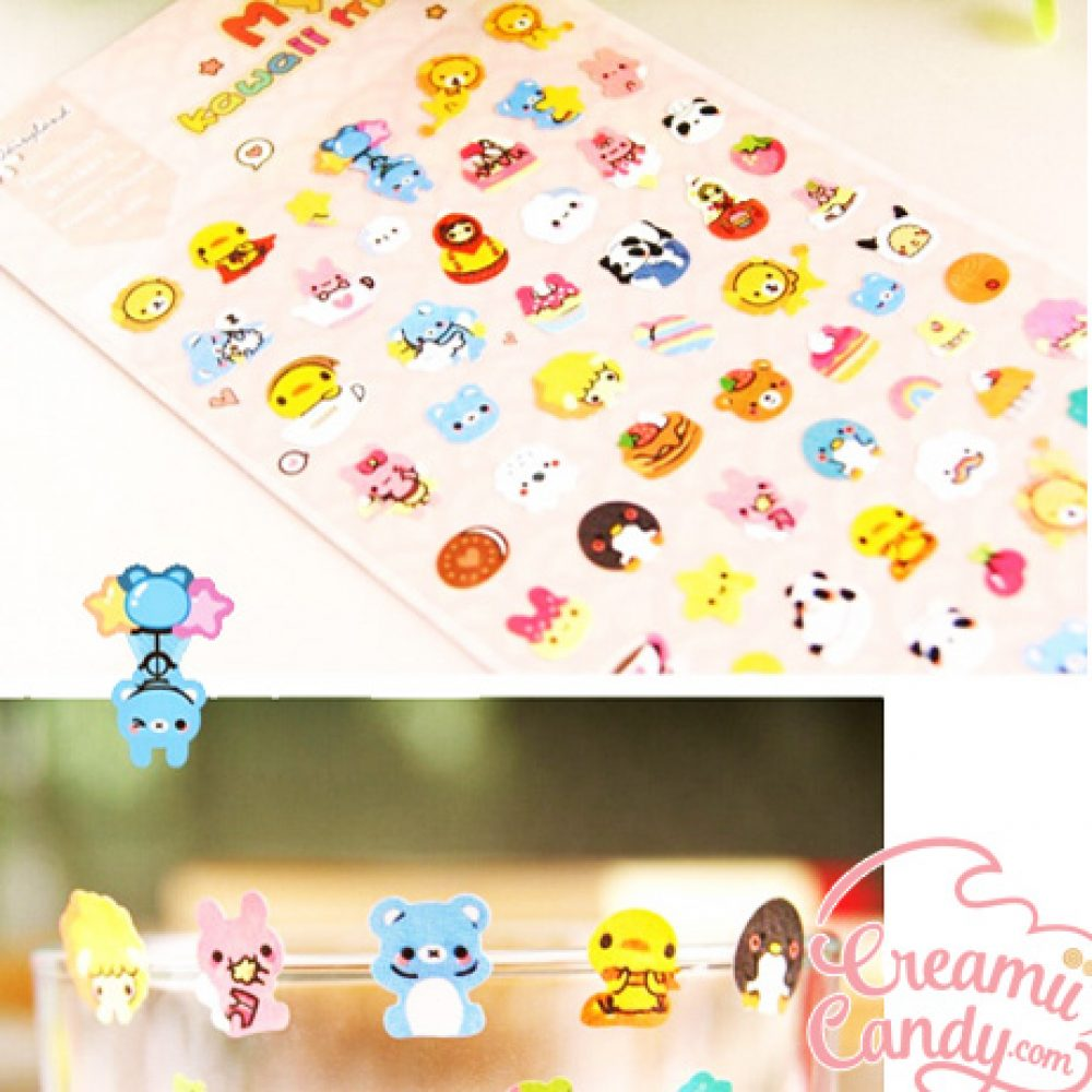 kawaii mini animals sticker sheet buy online australi
