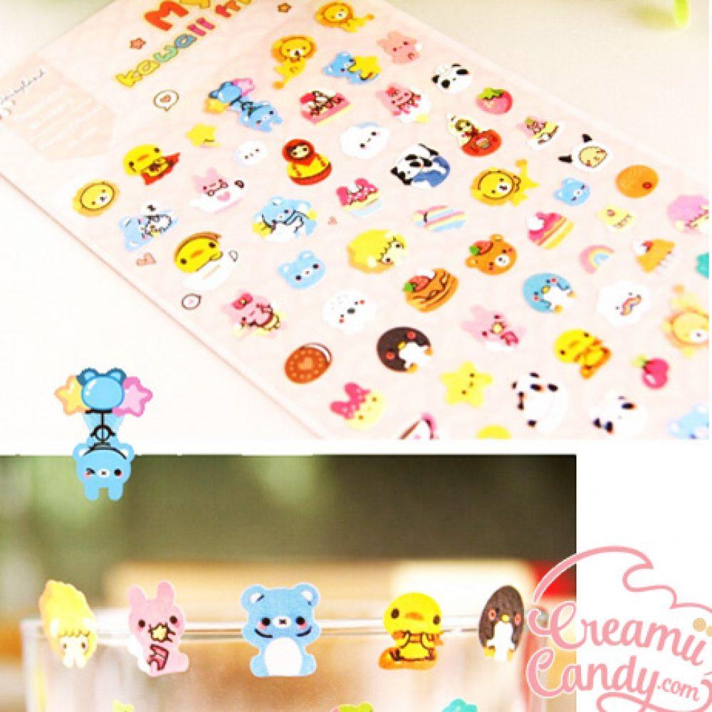 kawaii mini animals sticker sheet buy online australi