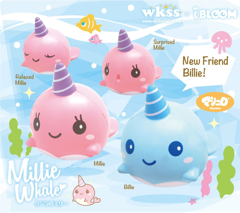 Unicorn Whale Squishy : Ibloom Millie and Billie the whale squishy!