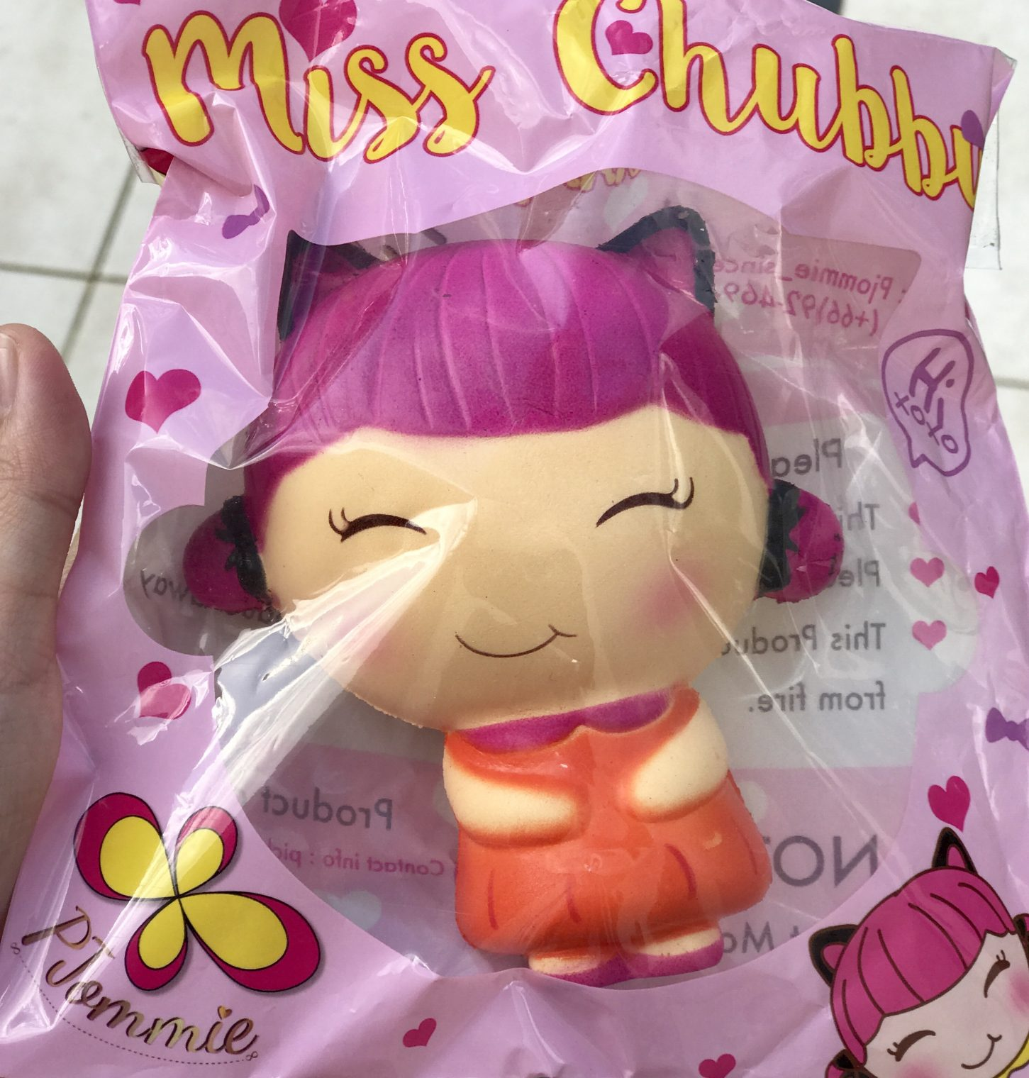 Miss Chubby the Kitty pink lady squishy *limited* rare ...