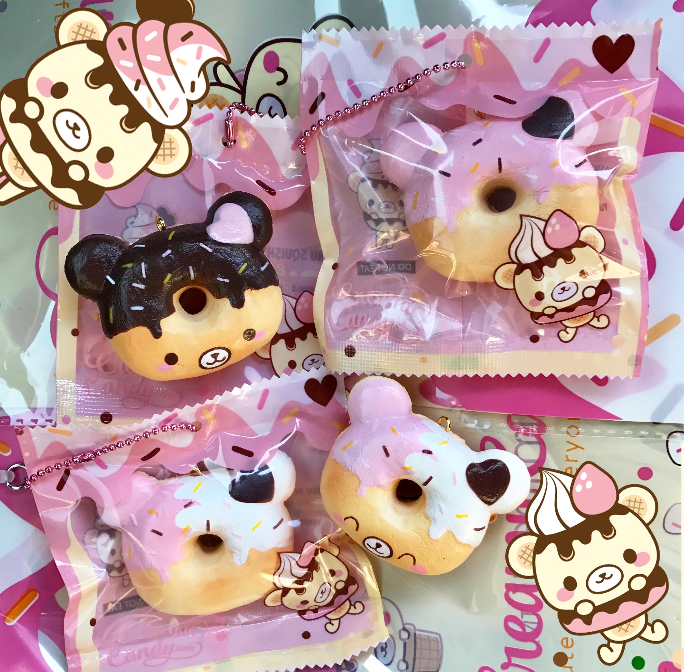 Squishy Yummiibear : Yummiibear Creamiicandy mini donut squishy x Puni maru