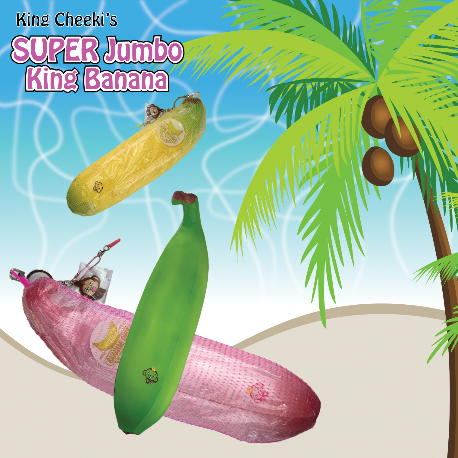 Puni Maru Jumbo Banana Squishy For Sale