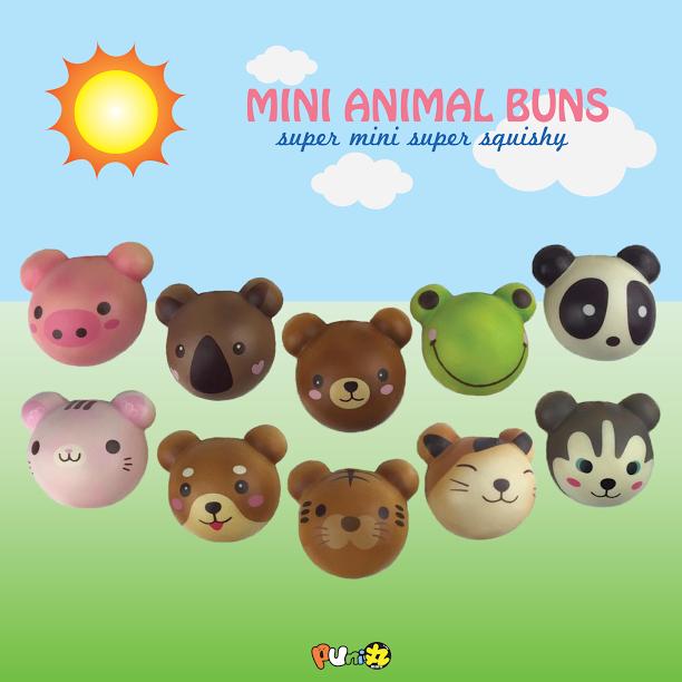Squishy Mini Bun : MINI Puni Maru squishy animal buns ~ cute, scented