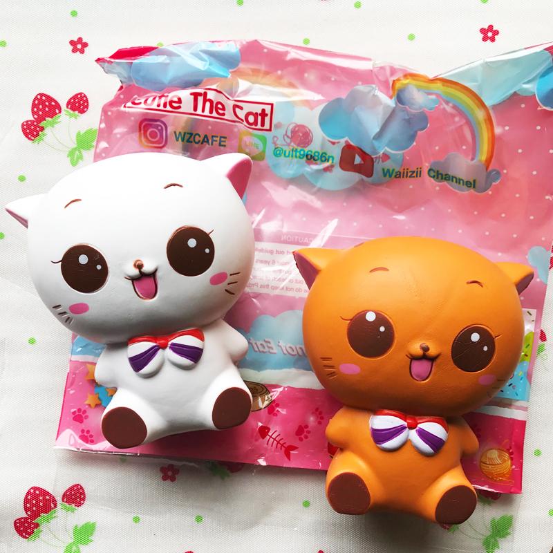 Rare Kawaii Squishy : Cutie the coffee kitty cat squishy wzcafe licensed