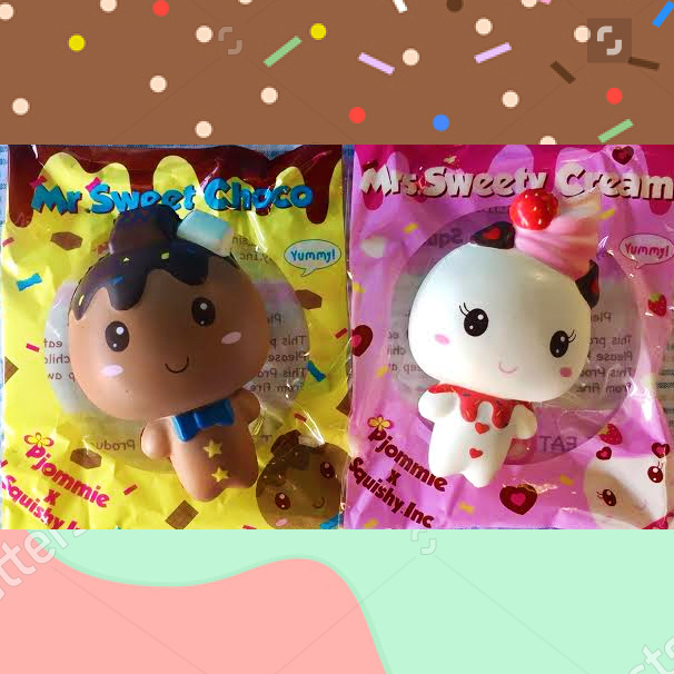 Bff Squishy Tag : HUGE sale Pjommie Scented Miss Sweety and Mr Chocolate happy delicious squishy