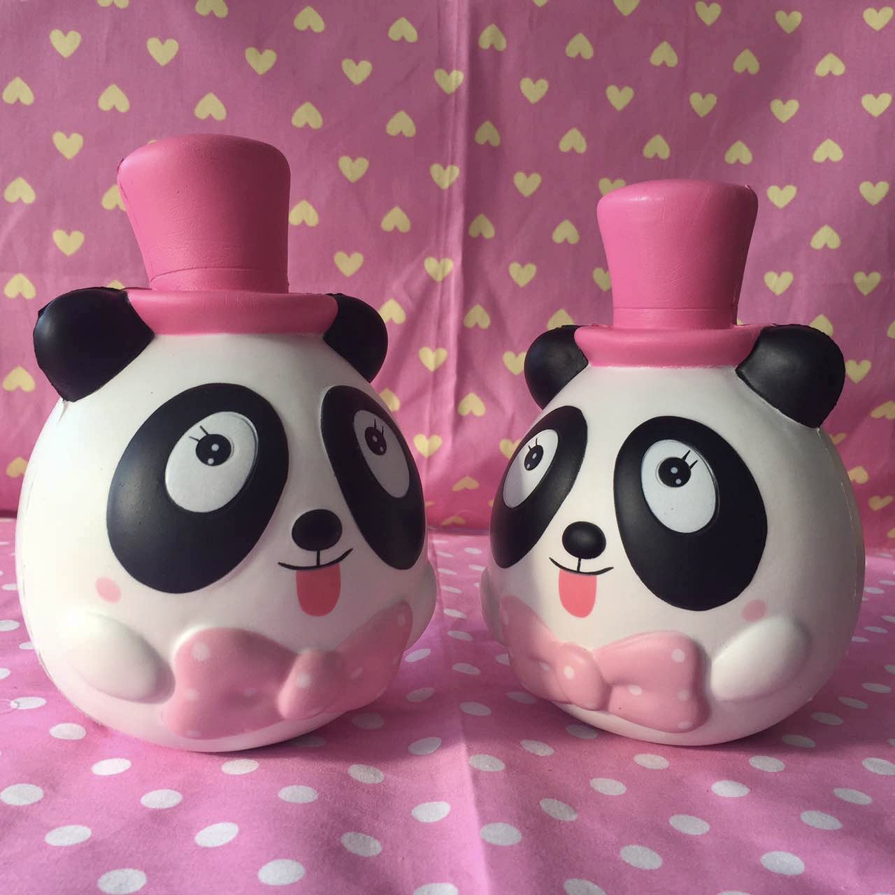 Lei lei pink top hat panda squishy (mega sale ...