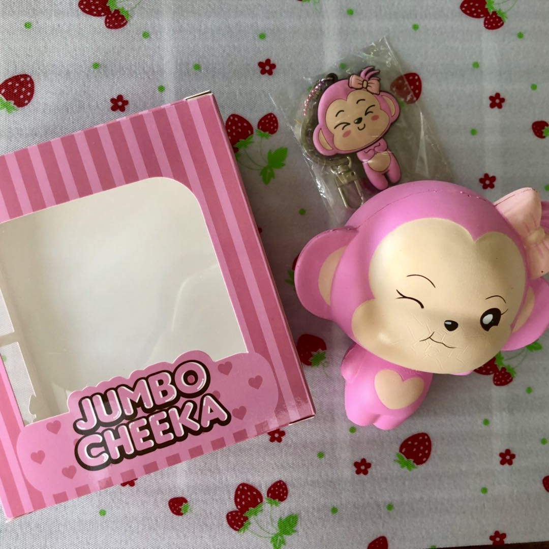 Squishy Licensed Jumbo : Peach scented cute Cheeka monkey squishy jumbo ~ licensed by Puni Maru Creamiicandy shop ...