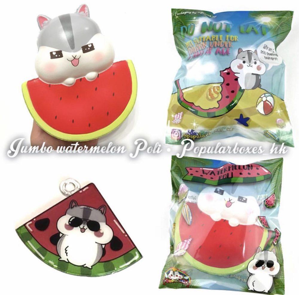 poli hamster watermelon squishy kawaii cute