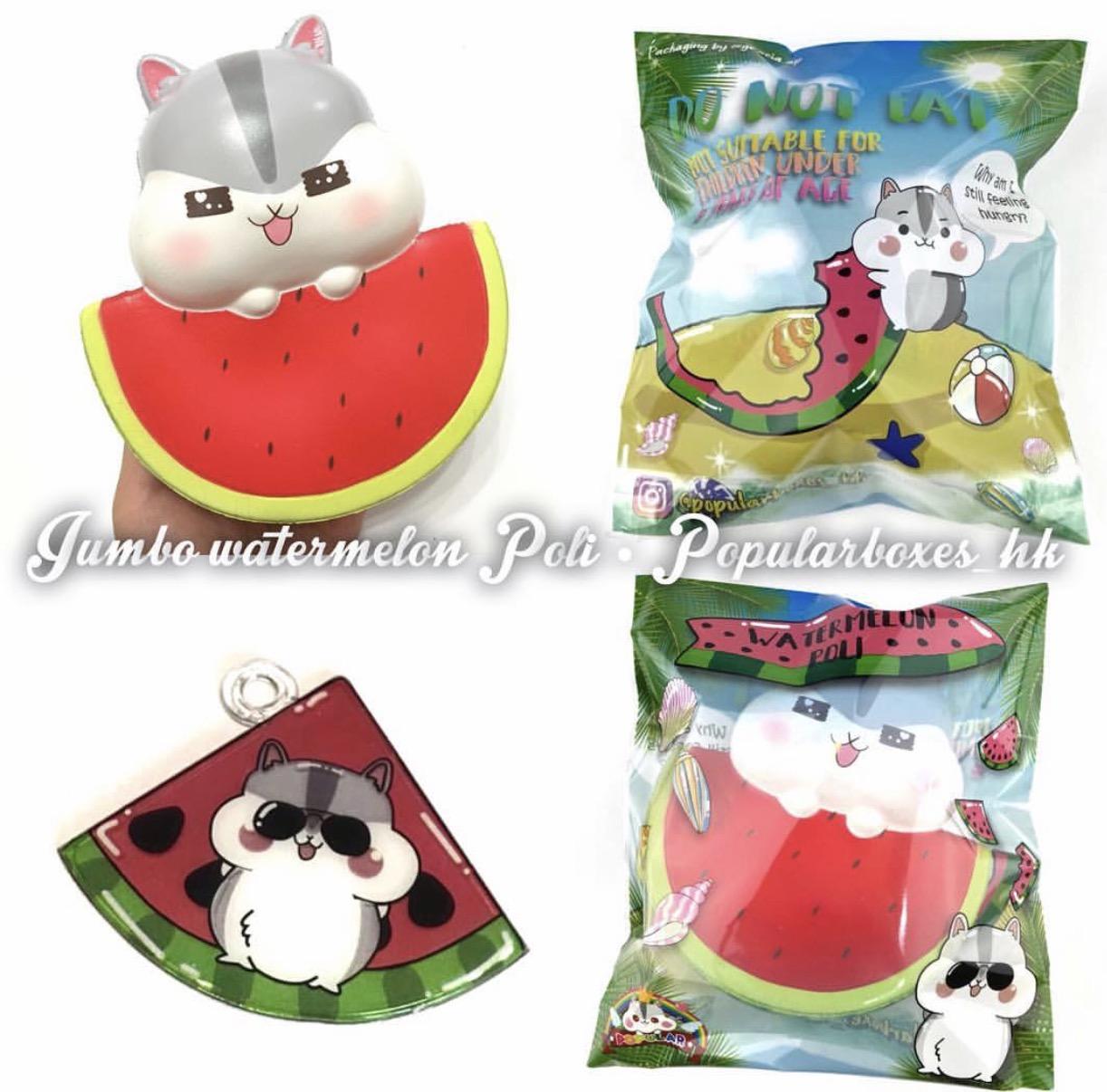 Jumbo Poli the hamster watermelon squishy *scented*