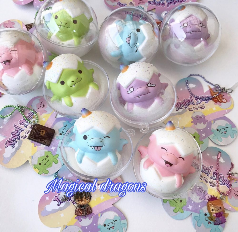 Puni Maru Magical baby Dragon egg squishy