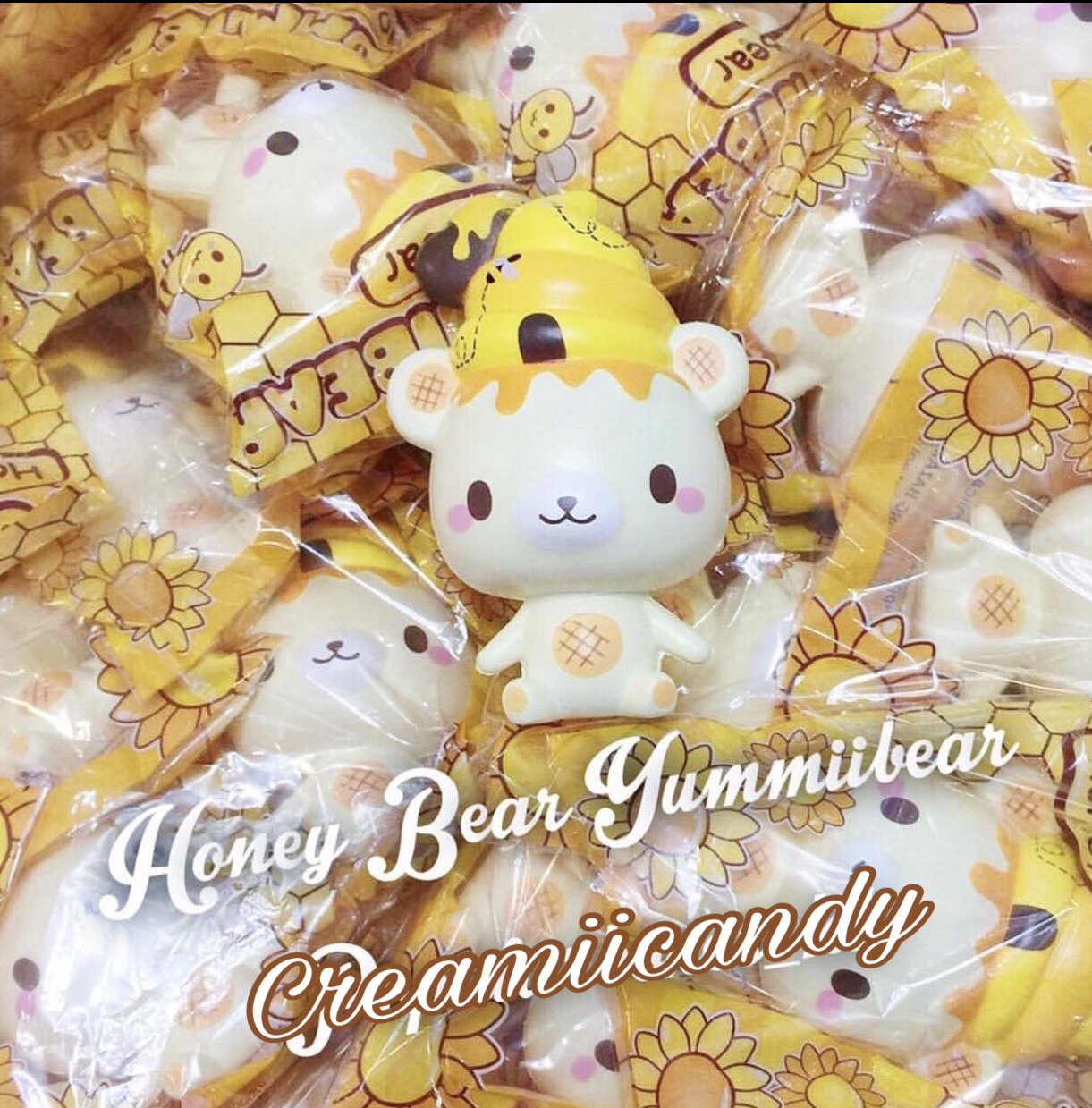 Squishy Baru 2018 : Honey scented Yummiibear bear Yummiibee! Creamiicandy x Puni Maru squishy