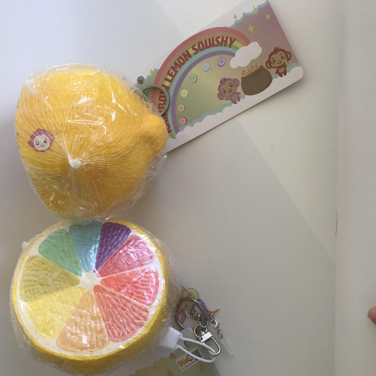 Squishy Licensed Jumbo : Super rare jumbo rainbow lemon squishy! *puni Maru licensed