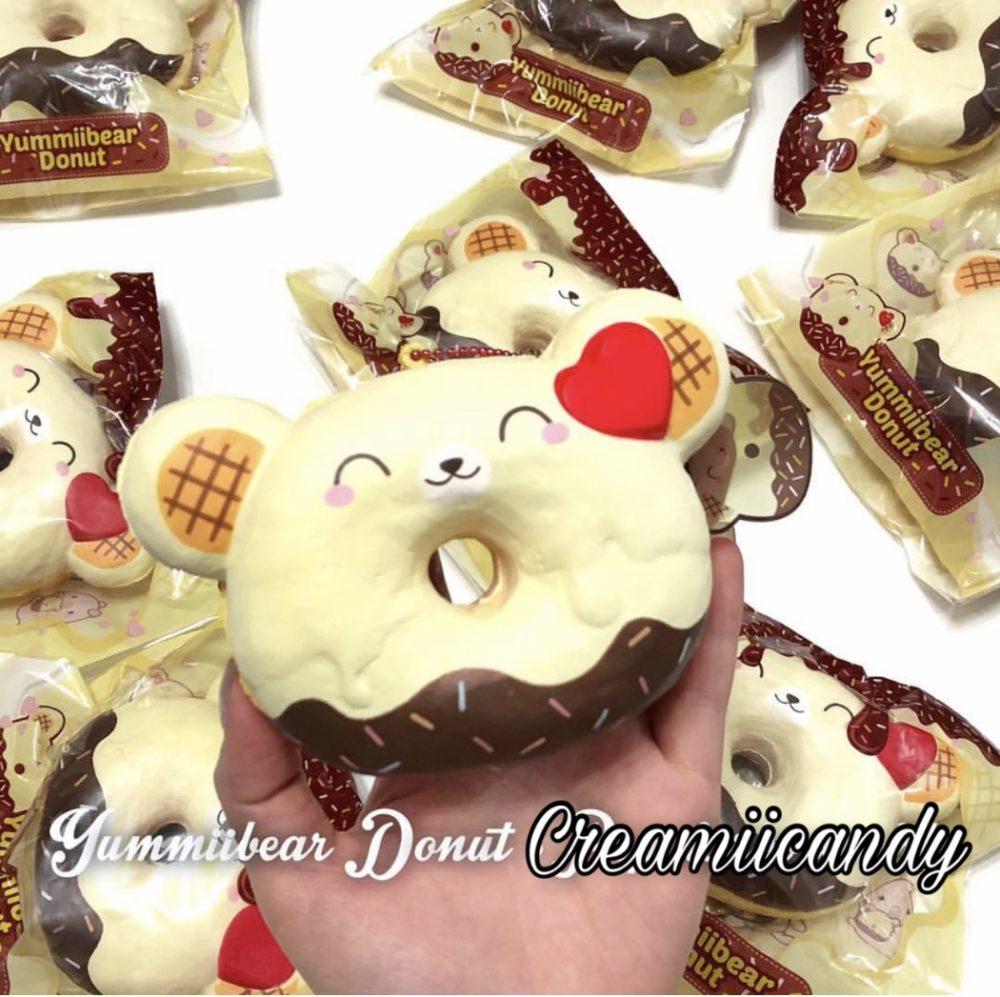 yummiibear face donut super cute kawaii squishies