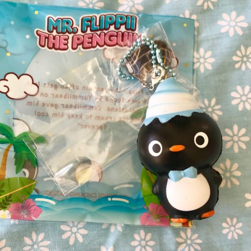 mr flippii the penguin squishy