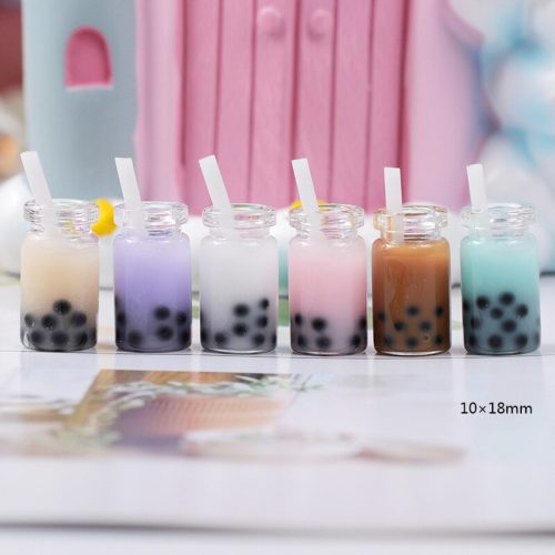 Kawaii Cabochons Cute Miniature Bubble Tea and Boba Tea sweet food Deco Resin Charm Cabochons