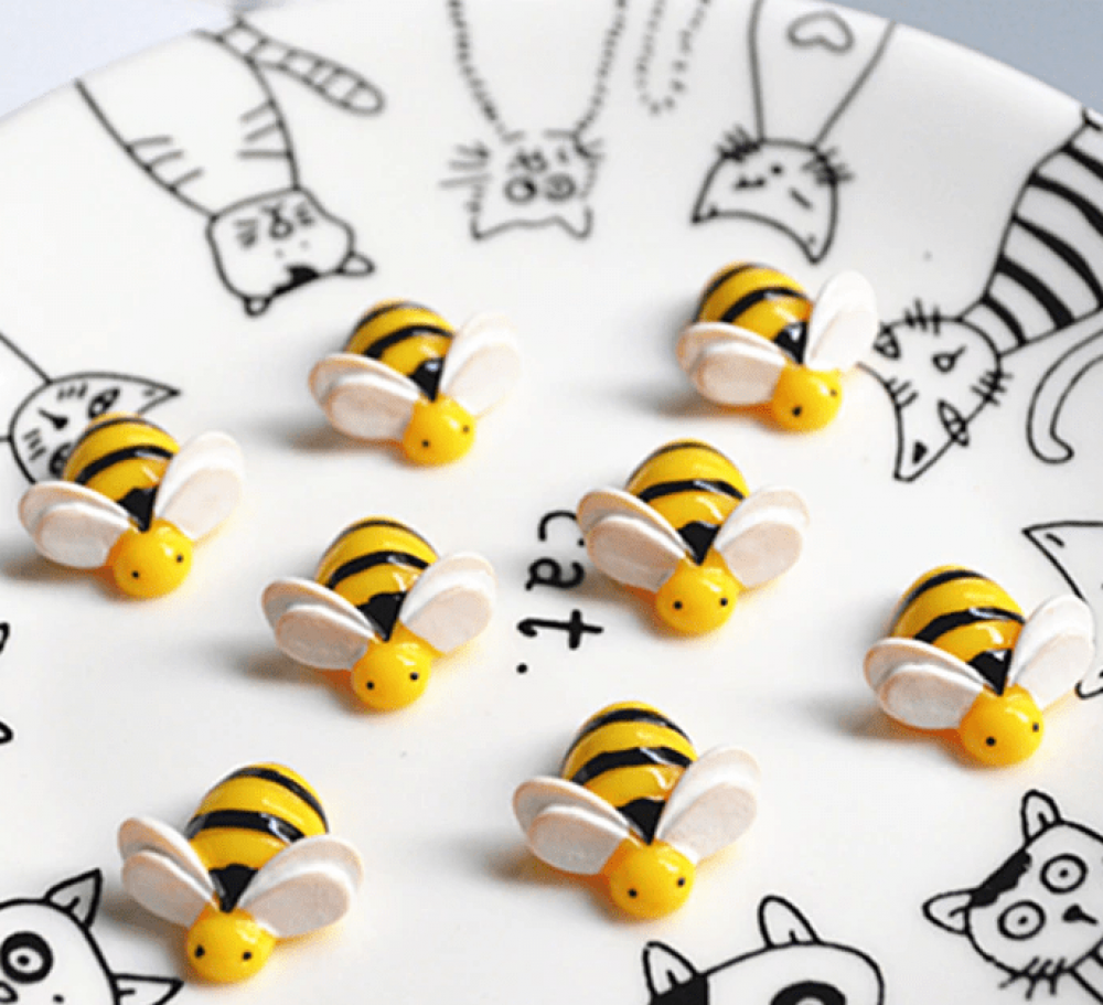 kawaii bee cabochon animal resin charm