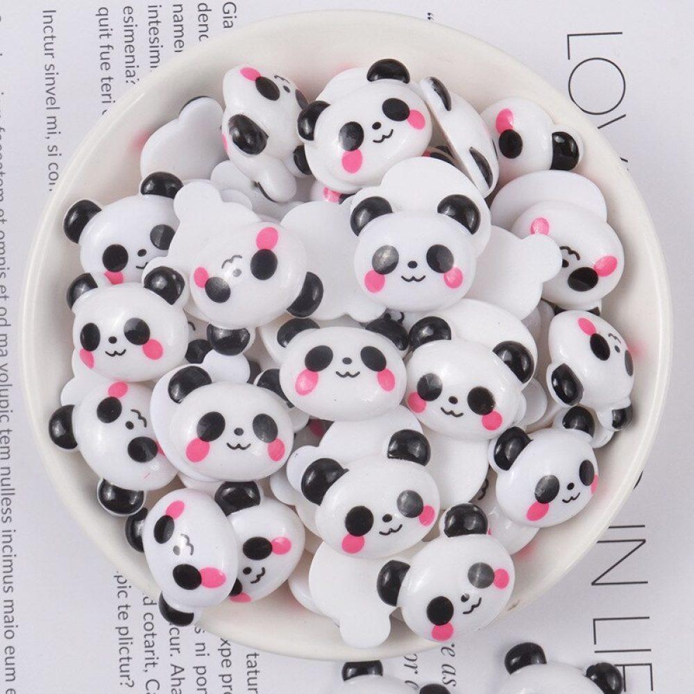 kawaii panda animal resin cabochons deco charms
