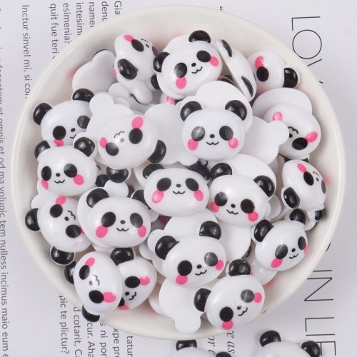 kawaii panda animal resin cabochons deco charms