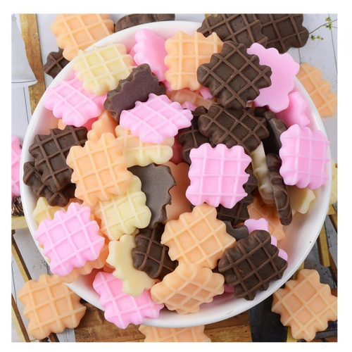 Cute Cabochons Kawaii waffles sweets food Deco Resin Charm Cabochons
