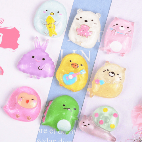 sumikko gurashi cabochon resin kawaii cute animals