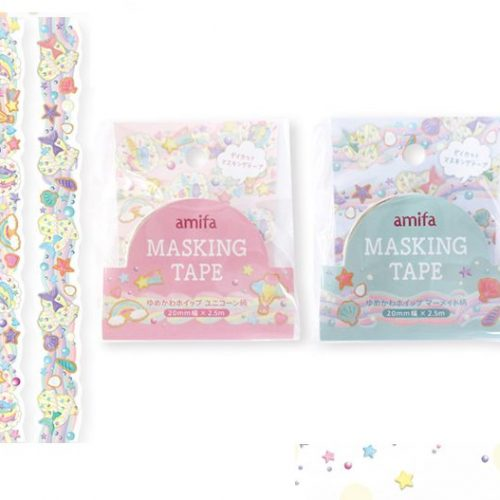 amifa-pretty-shells-and-stars-masking-tape-set