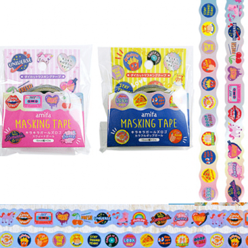 glitter girl retro pop washi tape