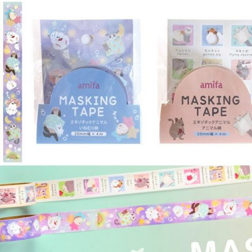 cute animal washi tape amifa japan hedgehog and racoon and panda
