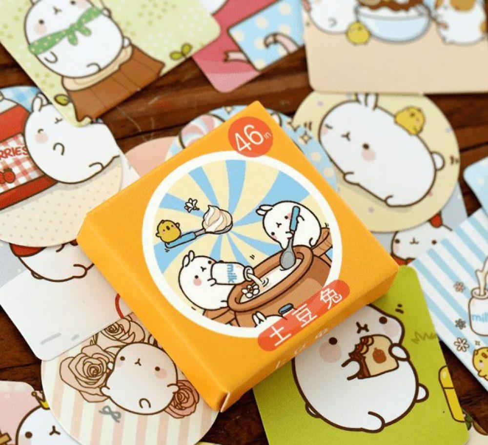 Molang cute rabbit Korean stickers