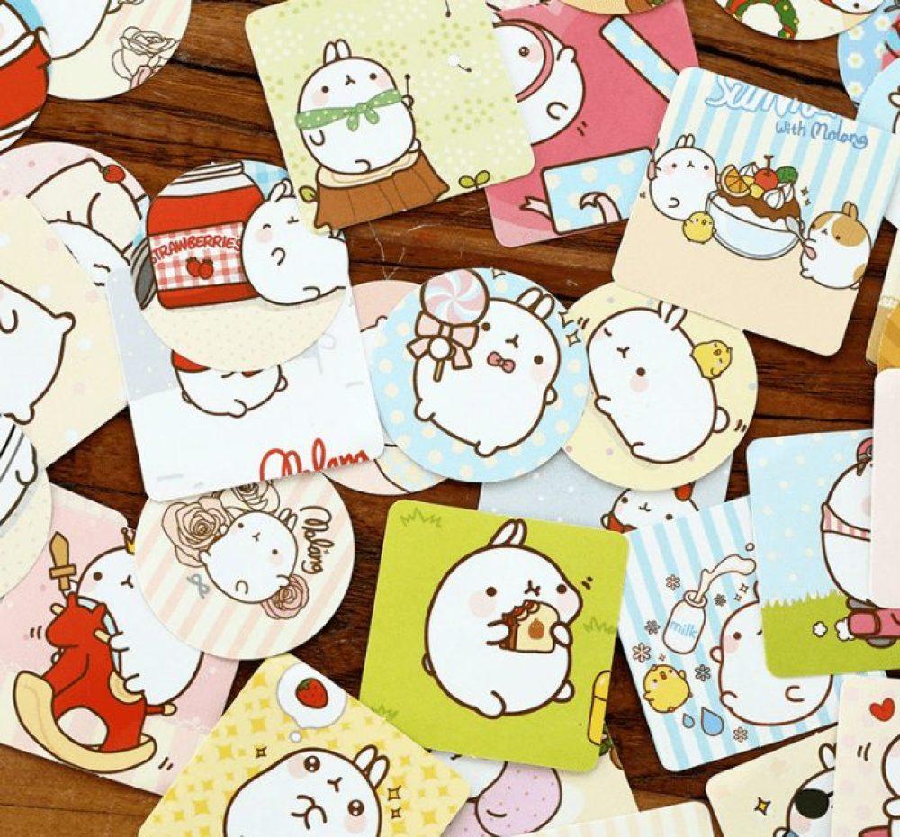 molang and piu piu rabbit stickers