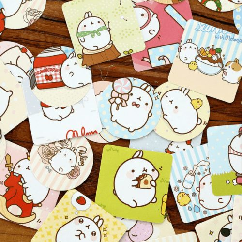 molang and piu piu rabbit stickers