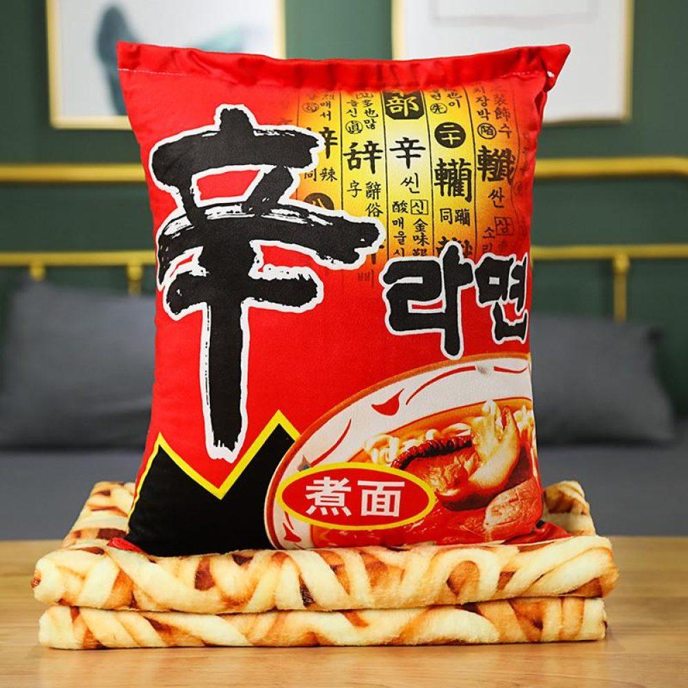 Ramen noodles blanket pillow