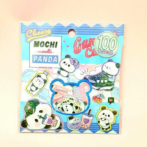 kamio japan sticker flakes mochi panda kawaii