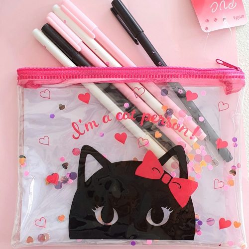 Black Cat Makeup Cosmetic Bag Pencil case:
