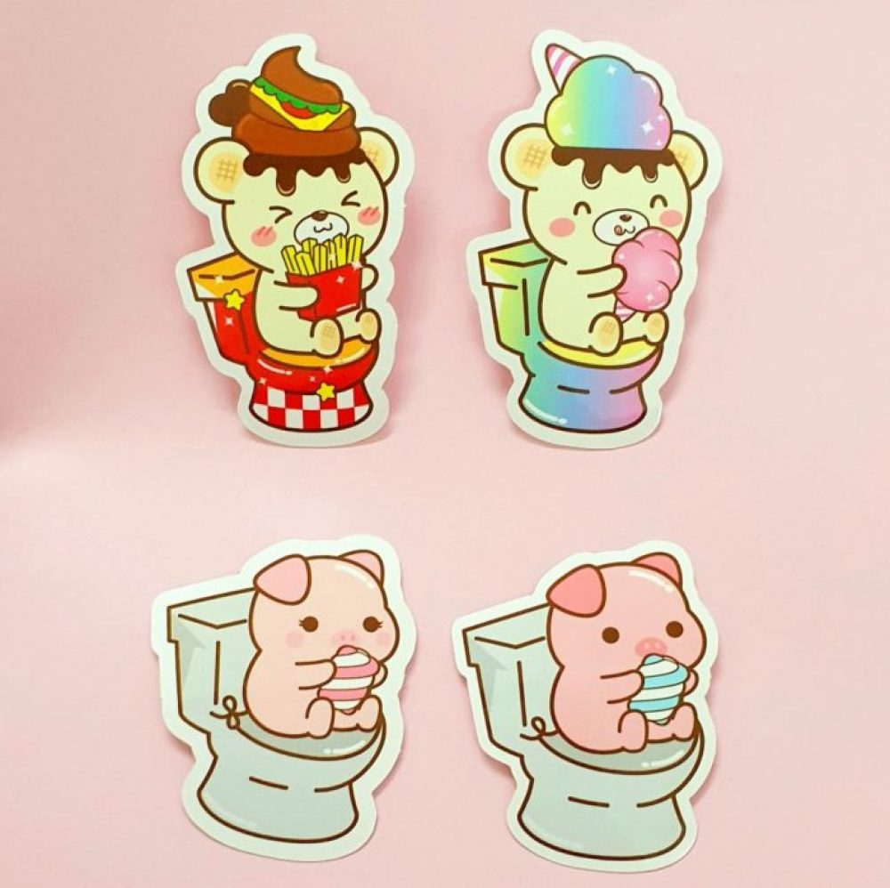 kawaii bear yummiibear stickers