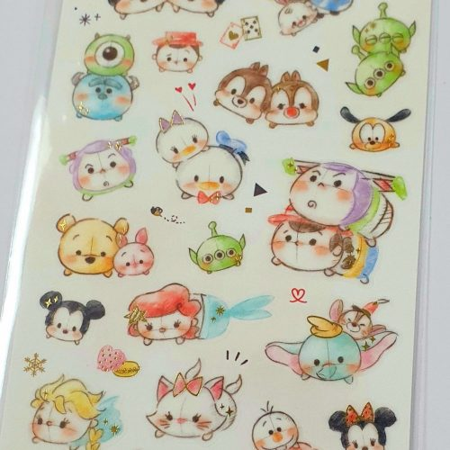 authentic disney tsum tsum ariel pooh bear alice in wonderland mickey minnie mouse sticker sheet disney japan