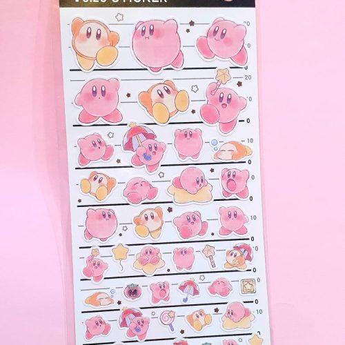 kirby stickers planner sheet