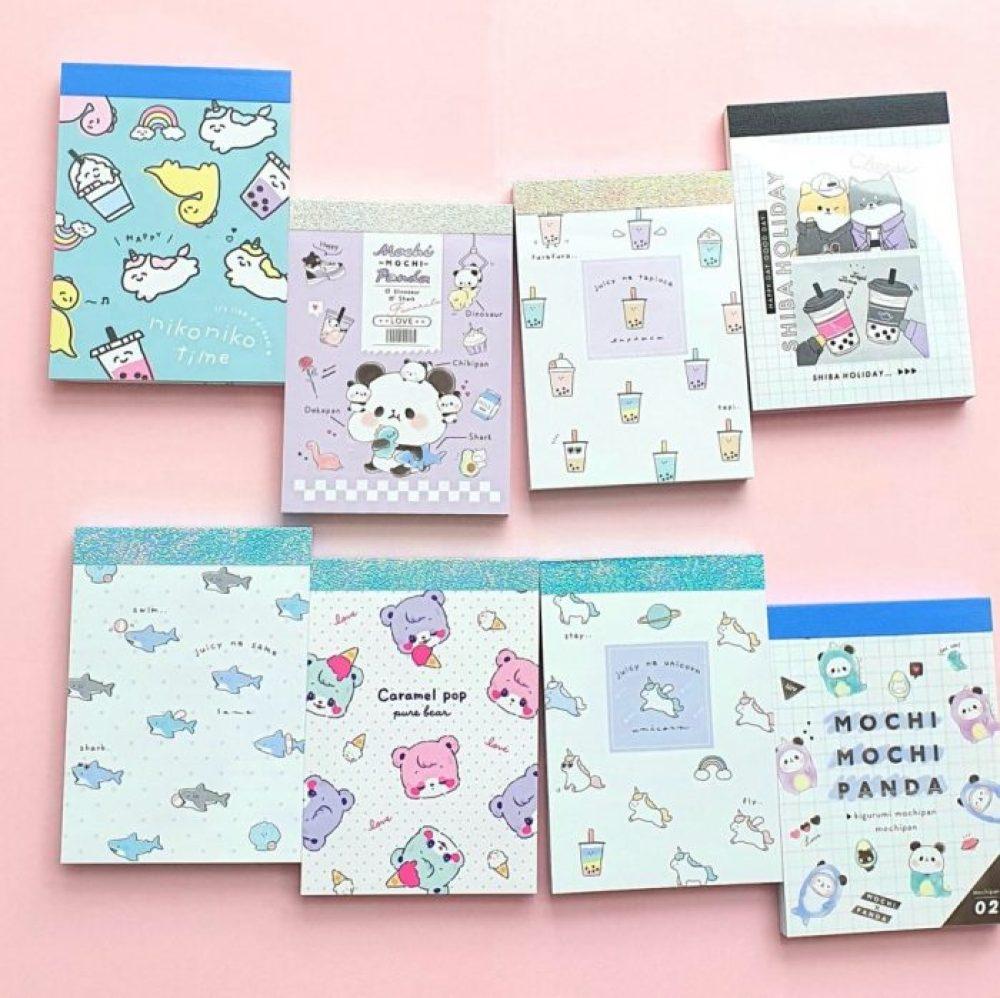 mini kawaii cute memo pads note pads memo sheets japan kamio crux panda memo pads