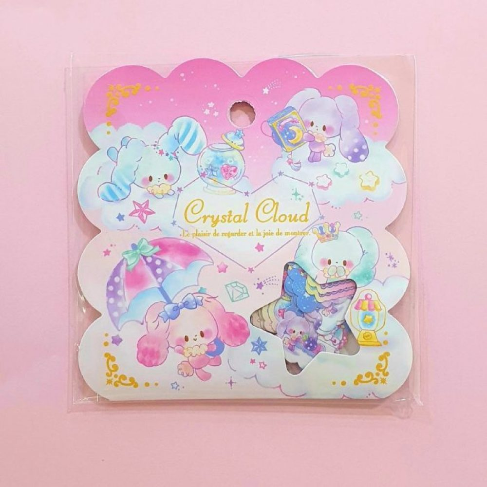 sugar bunny sticker flakes q lia japan