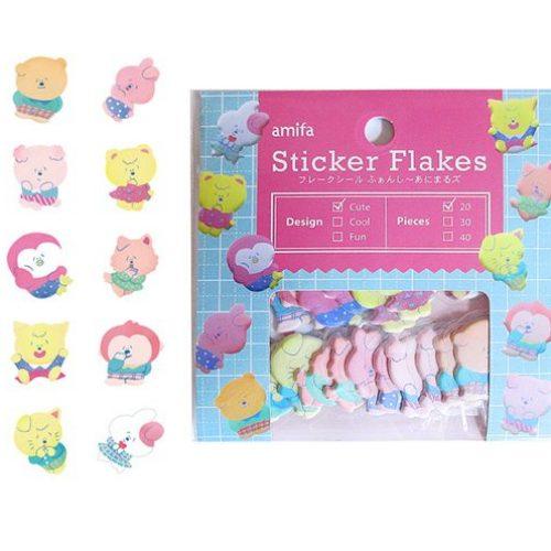 kawaii amifa sticker flakes kawaii rabbits puffy 2.
