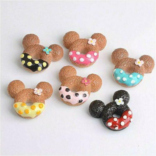 mickey mouse kawaii cabochons resin charm