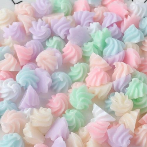 deco charm cabochon sweets whipped cream
