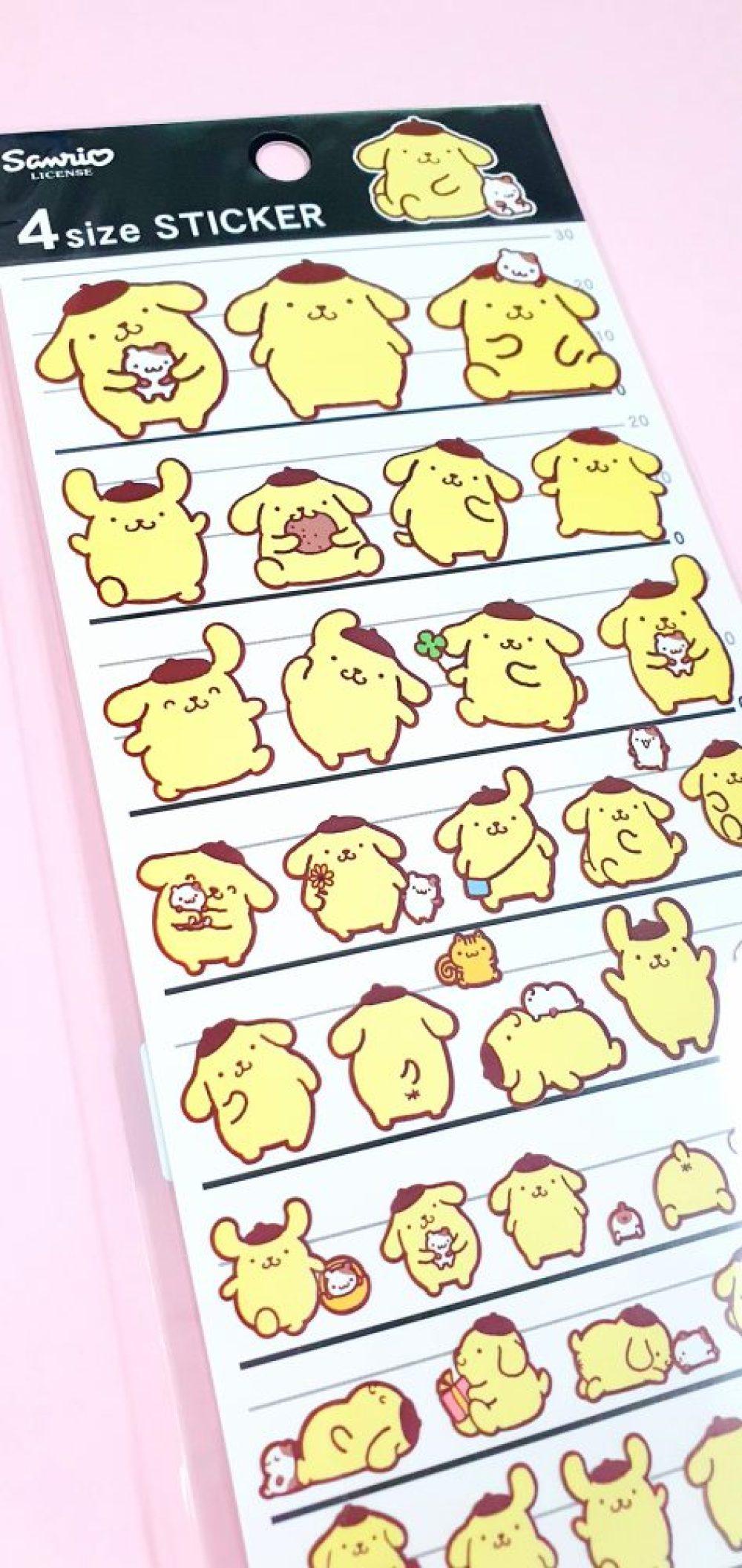 PomPomPurin Four Size Seal Sticker Sheet