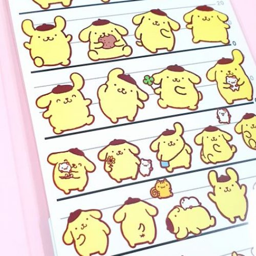 PomPomPurin Four Size Seal Sticker Sheet