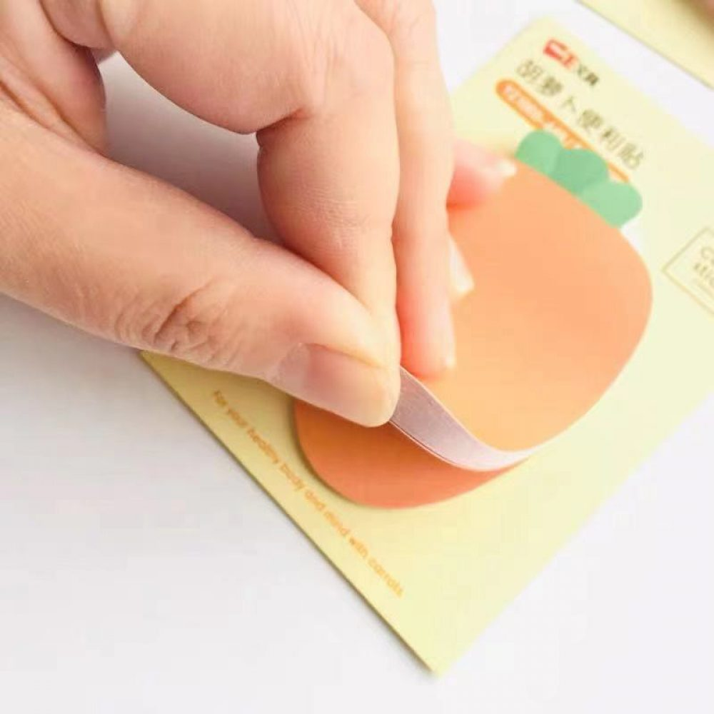 cute carrot memo pad sticky notes