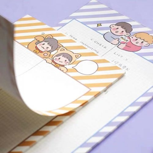 cute cat girl memo note book large memo pad